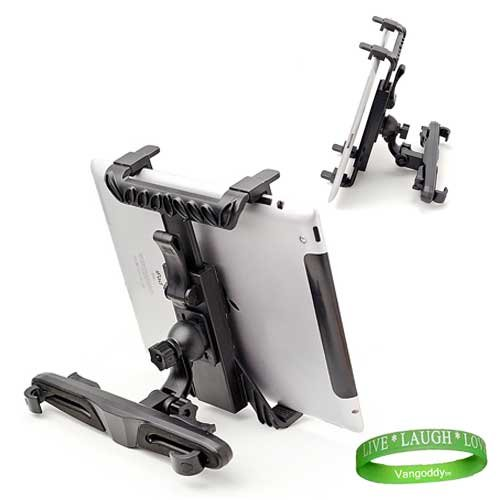 Durable Tablet Car Mount PC Computer Tablet Backseat Headrest Mount for All Models of ipad 2 (MC769LL/A , MC979LL/A , MC770LL/A , MC916LL/A , MC775LL/A , MC981LL/A , ect¦ )+ Live Laugh VanGoddy Love Wrist Band!!!