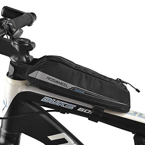 LIDIWEE Fahrradtasche Energy Oberrohrtasche für Rennrad-Rennen / Triathlon-Fahrräder, Rahmentasche Wasserdicht Schwarz 0.4L
