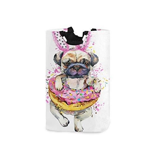 Lerous Wasserij Mand Grote Leuke Hond Donut Inklapbare Wasserij Hamper Met Handgrepen Opvouwbare Opbergmand voor Vuil Kleding Kids Speelgoed
