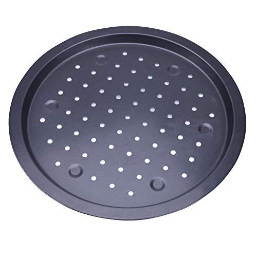 35,6cm à pizza anti-adhésif Plateau moule Plat à rôtir en acier carbone perforés Plat à pizza Cuisine support de plaque pour four