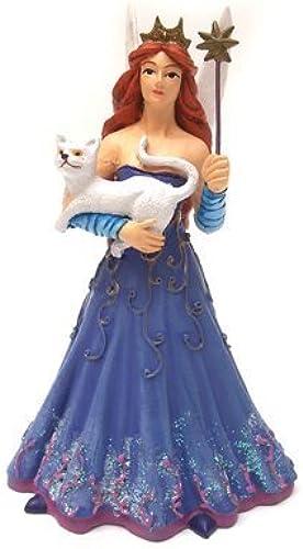 Fairy with Weiß Cat Figurine by Plastoy - Figurines