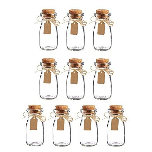 Botes Cristal Pequeños, 10 Piezas Transparente Botes Cristal Pequeños, Frascos Cristal Tapones...