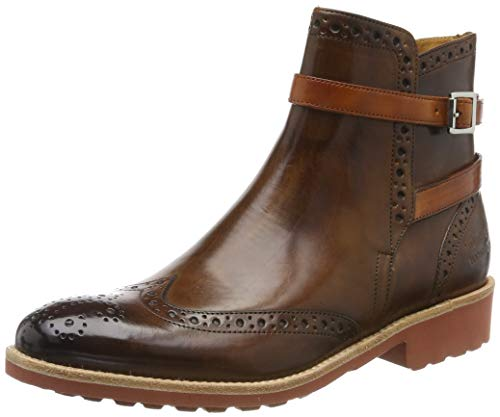 MELVIN & HAMILTON MH HAND MADE SHOES OF CLASS Damen Amelie 11 Stiefeletten, Braun (Brown Crust-Wood-Strap-Winter Orange-Lining-Rich Tan-Insole Leather-Rook D-Red), 42 EU