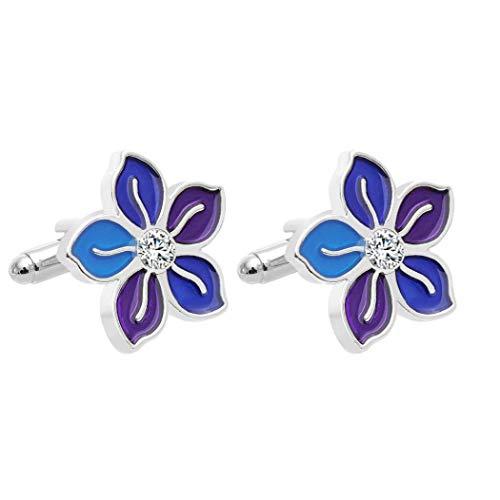 Mini-Manschettenknöpfe Blumen-Form-Krawatte Clips für formales Kleid Schmuck Accessoires für Unisex
