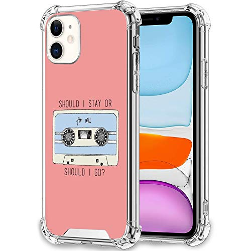 YeTong Phone Case for iPhone 11 Transparent Framework Stranger Things Tape Cassette Quote Design Bumper Shockproof Slim Fit Case for iPhone 11 for Girl Women