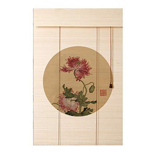 YJFENG Cortinas De Bambú Persianas Enrollables De Plantas Naturales Puras, 70% Apagón Respetuoso del Medio Ambiente Sin Formaldehído, Dividir Decoración, para Gazebo, Patio