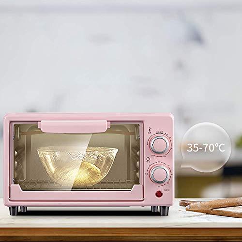 fgg Mini Horno de panadería-Pizza Machine eléctrico Timer-Hornear multifunción Domésticos de Cocina Compacto de Mesa Temporizador 800W Horno de convección fengong