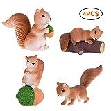 FeidAjdzf Lot de 4 outils de jardin en forme d'écureuil