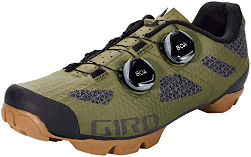 Giro Sector Men's Mountain Cycling Shoes - Olive/Gum (2021) - Size 46