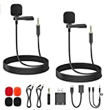 Professional Grade Lavalier Lapel Microphone Omnidirectional Mic with Easy Clip On System Perfect for Recording YouTube/Interview/Video Conference/Podcast/Voice Dictation/iPhone/ASMR