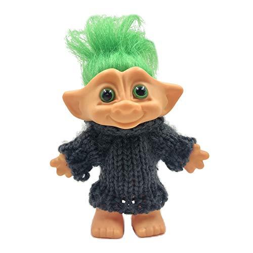 SM SunniMix Trolls Doll Cake Topper con Pelo Y Ropa, Trolls Figuras de Acción Pastel de Cumpleaños Cupcake Topper, Figuras de Trolls Juguetes, Troll Cake DEC - Pelo Verde