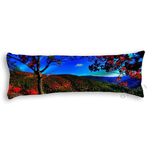 CiCiDi - Almohada para Dormir de Lado (140 x 40 cm), Color otoño, Arce Claro, Cielo Azul, sandía, algodón Suave, Lavable a máquina con Cremallera, Funda de Almohada Larga