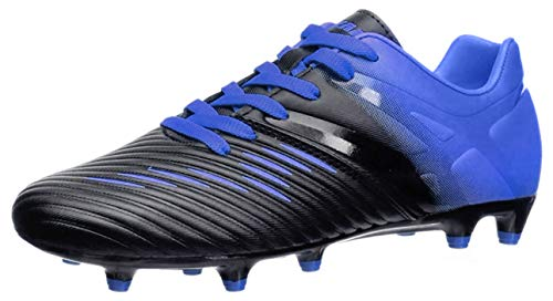 Vizari Unisex-Kid's Liga FG Black/Blue Size 6 Soccer Shoe, 6 Regular US Big Kid