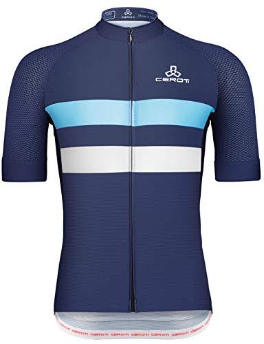 CEROTIPOLAR Men's PRO SNUG Fitting Cool Summer Cycling Jersey, Bike Jersey UPF50+