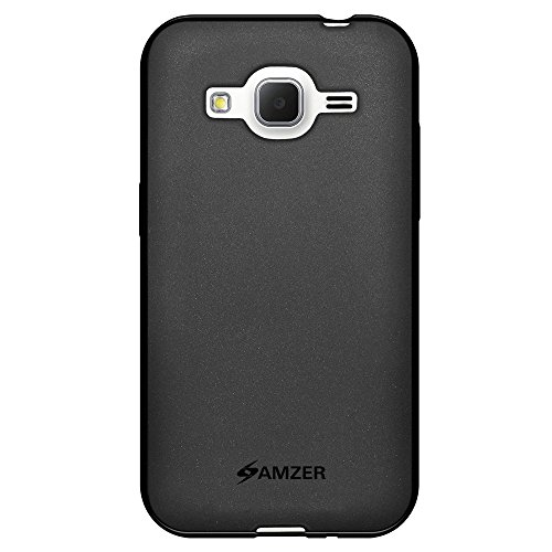 Amzer Pudding TPU Skin Case for Samsung Galaxy Core Prime SM-G360, Samsung Galaxy Prevail LTE SM-G360 - Retail Packaging - Black