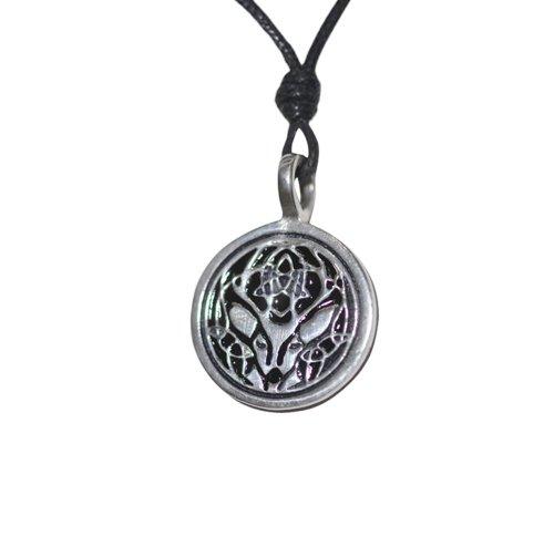 Vietguild Black Celtic Deer Silver Pewter Charm Necklace Pendant Jewelry