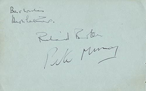 Richard Burton Our shop OFFers the best service - Signature co-signed Mur New Free Shipping Peter Latimer Hugh by:
