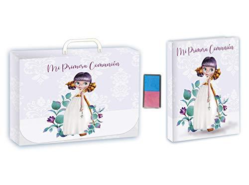 Libro de comunión con tampón y maletín Arguval