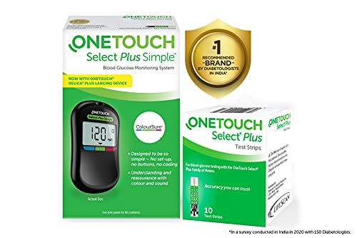 OneTouch Select Plus Simple Glucometer (FREE 10...