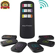 Key Finder, Litower Item Tracker Wireless RF Item Locator with Remote, 100ft Loud Beeping Sound Item Finder for Key Pet Tracker Wallet Tracker with 6 Anti-Lost Tags and Keychains
