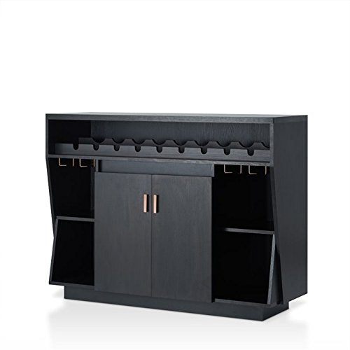 Furniture of America Trenta Contemporary Wooden Server in Black