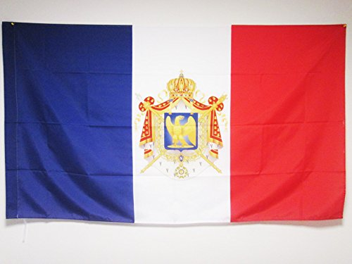 AZ FLAG Napoleon III Second French Empire Flag 3' x 5' for a Pole - France - Imperial Bonapartist Flags 90 x 150 cm - Banner 3x5 ft with Hole