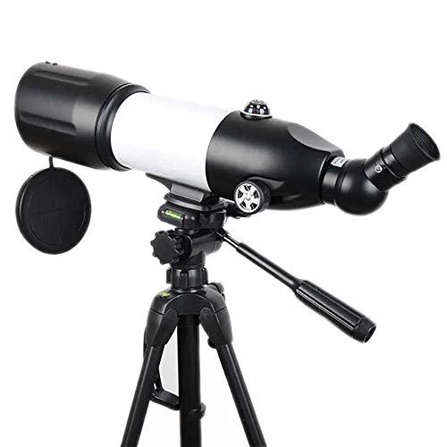 Zavddy Astronomische Fernrohr 80/400 HD astronomisches Teleskop Tragbare Starry Anzeigen monokulare mit Stativ für Kinder Anfänger (Farbe : Black, Size : 76x125-150cm)
