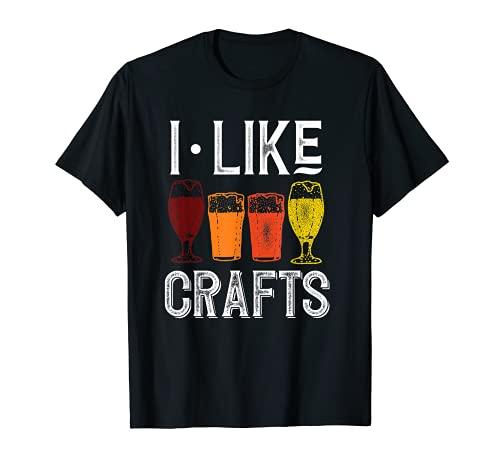 I Like Crafts Funny Vintage Brewer Craft Beer Shirt