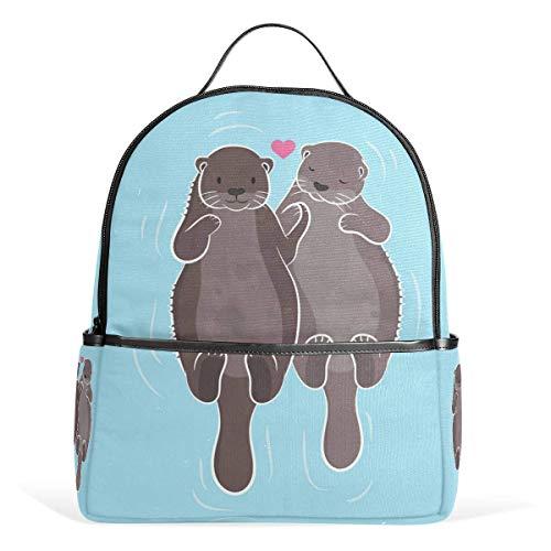Ocean Animal Sea Otter Sacs à Dos Ordinateur Book Bag Voyage Randonnée Camping Daypack