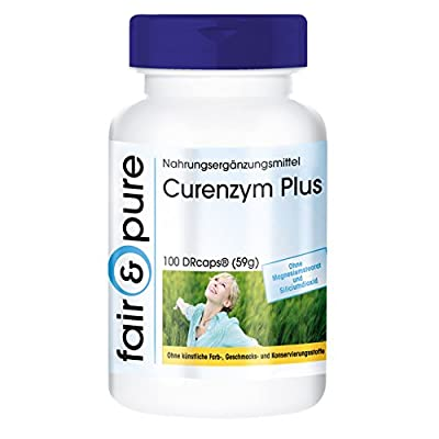 Curenzym Plus, delayed release enzyme complex - no magnesium stearate or silicon dioxide - 100 vegan DRCaps® from fair & pure