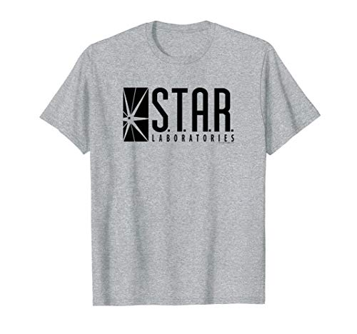 The Flash TV Series S.T.A.R. Labs Black Grey T Shirt