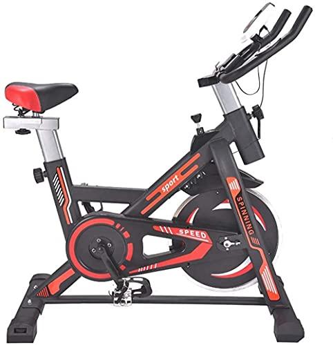 Bicicletas de ejercicio silenciosas para ciclismo, ejercicio, bicicleta, ejercicio, gimnasio, casa, gimnasio, hogar, gimnasio, (color: negro, rojo, tamaño: 101 x 49 x 101 cm), negro y rojo