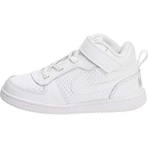 Nike Court Borough Mid (TDV), Pantofole Bambino, Bianco (White/White 100), 19.5 EU