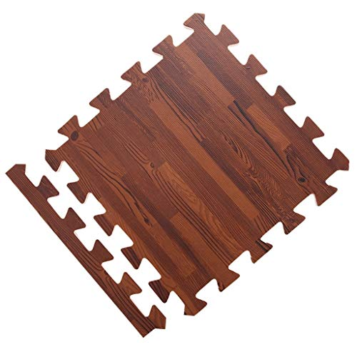 Affordable Baby room decor Nordic Wood Grain Carpet Bedroom Stitching Mat Floor Mat Thickening Crawl...