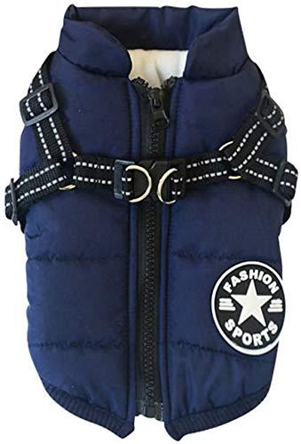 Savlot Hundejacke Winterweste Jacken Hundemantel Hundepullover Haustier Skifahren Kostüm Ärmellose Baumwolle Gepolsterte Weste Mit Brustgurt Gurt