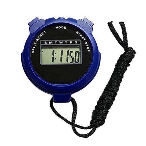 BSOA Sport Stoppuhr, Handheld LCD Digital Stoppuhr Timer Wasserdichter Zähler Timer Stoppuhr für Trainer Läufer Schiedsrichter