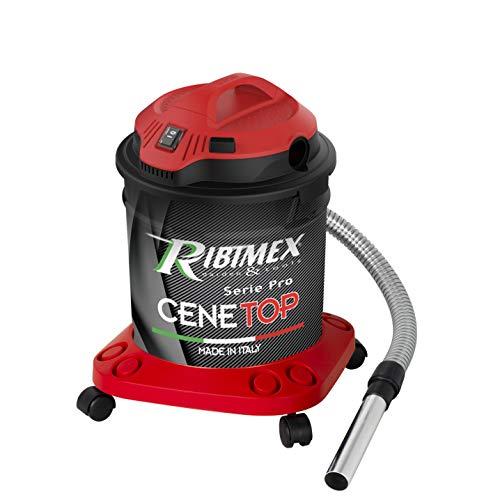Ribimex Aspirateur à Cendres Professionnel « CENETOP » 1200 W 18 L avec Filtre Automatique