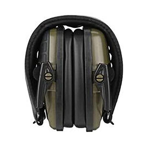 C-LARSS Auriculares Inalámbricos, Antirruido, Plegable, Ajustable, Diadema, Orejera, Protector Auditivo, Equipo De Seguridad para Caza Verde