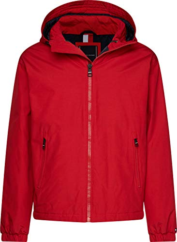 Tommy Hilfiger Herren Hooded Blouson Sportjacke, Rot (Red XLG), X-Large