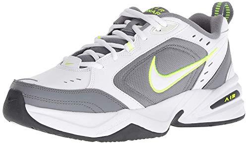 Nike Men's Air Monarch IV Cross Trainer, White/White - Cool Grey - Anthracite, 10 Regular US