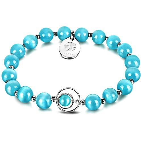 Bracelet de b/én/édiction JOXFA bracelet en pierre de loeil de chat de 8mm /à la mode /à la main en cristal bijoux pour hommes femmes
