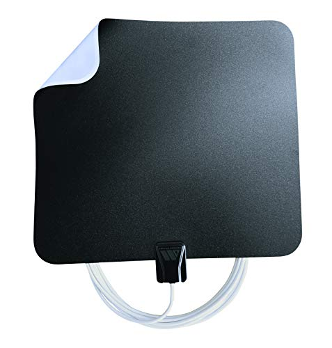 Winegard FL5500A FlatWave Amped Digital HD Indoor Amplified TV Antenna (4K Ready / ATSC 3.0 Ready / High-VHF / UHF), 50 Mile Long Range