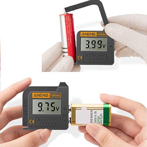 Batterietester Kecheer 168MAX Digital Display Tester Batteriespannungsprüfer Batteriekapazitätstest-Tool Universalprüfgerät zur Überprüfung der AAA AA-Knopfbatterie