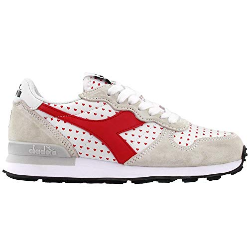 Diadora Womens Camaro Valentine Lace Up Sneakers Shoes Casual - Red - Size 5.5 B