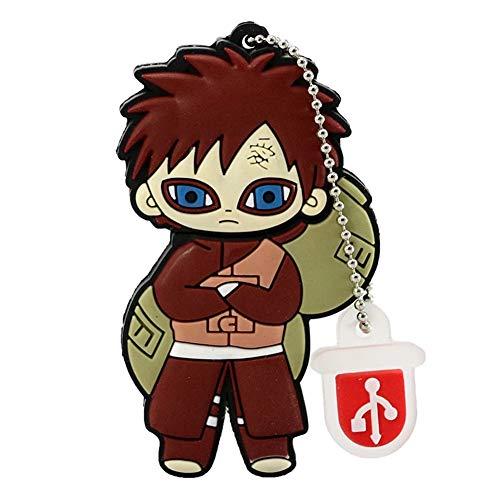 USB-Stick Flash Drive Speicherstick USB-Flash-Laufwerk Memory Stick Thumb Pen Hi-Speed USB2.0 Kreativ Anime Naruto Serie Cosplay Karikatur Tragbar Geschenk 4-128 GB (32GB,Gaara 8pcs)