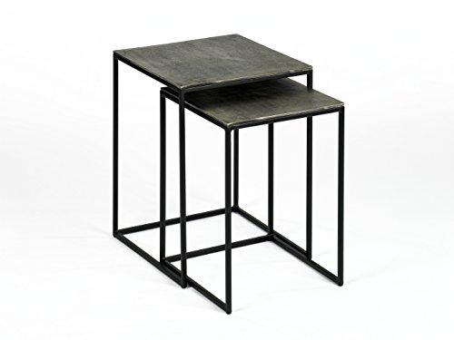 Lambert Dado Beistelltisch, Metall, Graphit/Schwarz, One Size
