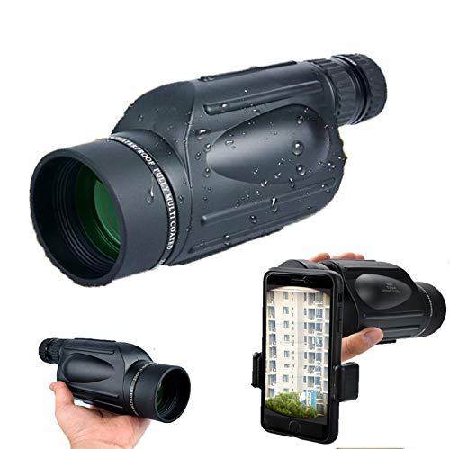 CFMZ Monoculares Nocturnos 4k 10-300x40, Lente De Vidrio Totalmente Óptico Telescopio con Adaptador De Soporte para Smartphone Y Trípode