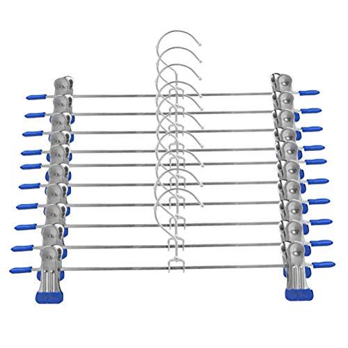 10 stuks kledinghangers ruimtebesparend herbruikbaar verstelbare kleerhangers kledinghanger broekhanger voor overhemden jassen pakken 10 blue