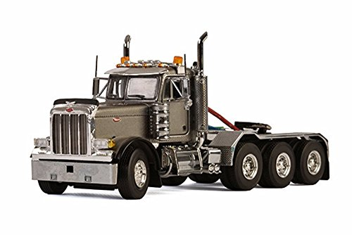 Peterbilt 379 8X4 4 Axle Truck, Silver - WSI Models 33-2015 - 1/50 Scale Diecast Model Toy Car