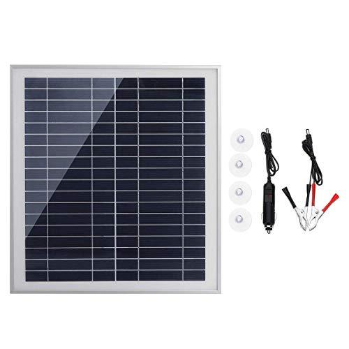 LKK-KK 25W portátil USB Kit de panel solar Dc de carga USB Doble Puerto ventosas camping Viajar